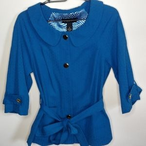 Lane Bryant lined  belted jacket.size 14
